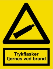 Trykflasker fjernes ved brand, 29,7x21 cm