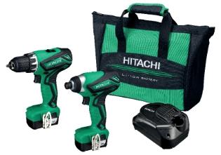 Hitachi KC 10DML, 10,8V/1,5Ah, Kombipakke