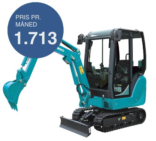 Kobelco Minigraver SK18SR - Finansiering af gravemaskine