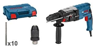 Bosch Borehammer GBH2-28F + 10 x SDS+7X
