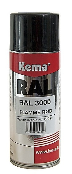RAL industrilak, Rød, Spray, 400 ml