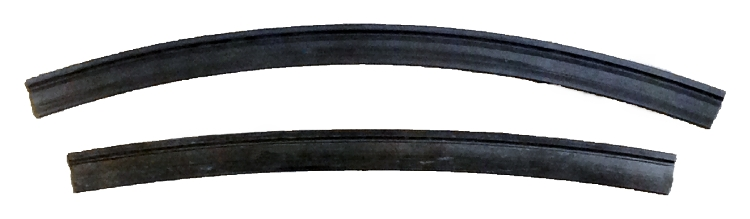 Gummilister, 500 mm, 2 stk