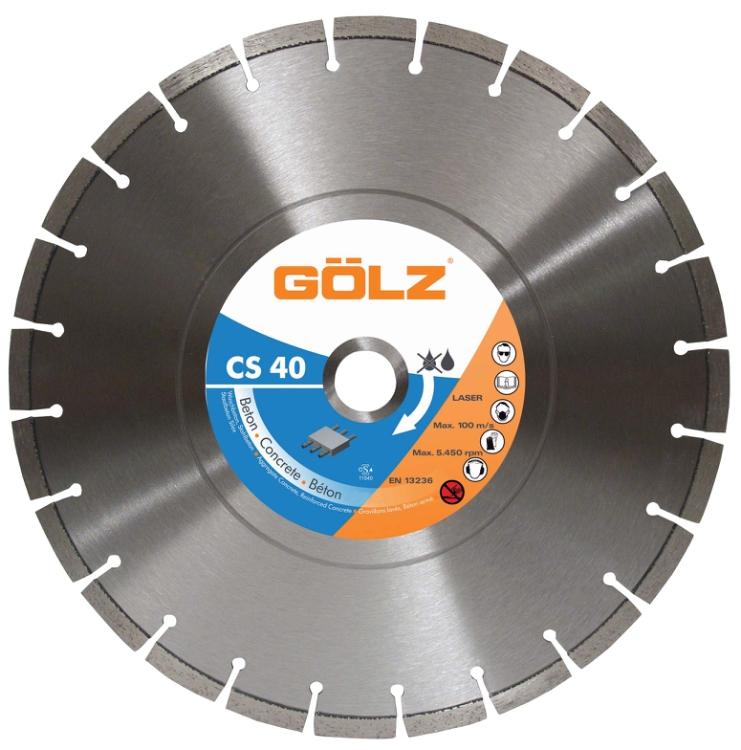 Gölz CS 40, Ø500x25,4 mm, Diamantskive