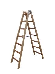 Træstige, 1,97 m / 2x7 trin