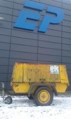 Atlas Copco XAS 55 trailer, Brugt kompressor