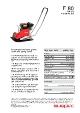Swepac F80 Pladevibrator produktblad