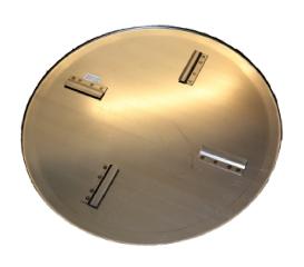Glittetallerken t/BG Combi (el), Ø865 mm