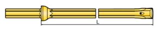 Helstangsbor, Ø23x800 mm, m/integreret mejsel