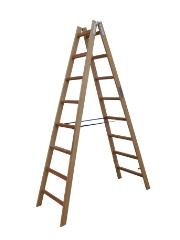 Træstige, 2,24 m / 2x8 trin