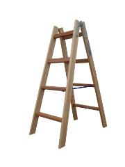 Træstige, 1,17 m / 2x4 trin