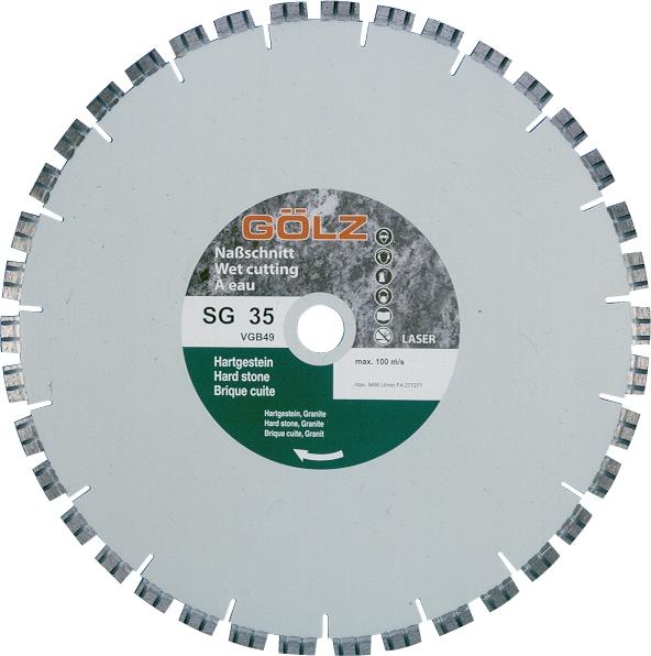 Gölz SG 35, Ø500x25,4 mm, Diamantskive