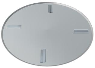 Glittetallerken, ø945 mm